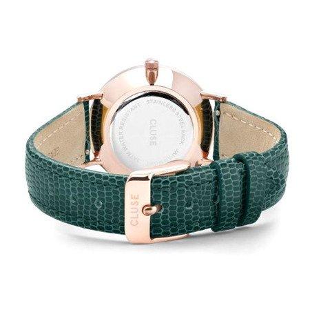 Zegarek damski Cluse La Bohème Minuit Rose Gold Champagne/Emerald Lizard CL30052