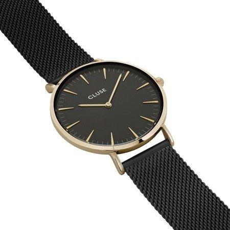 Zegarek damski Cluse La Bohème Mesh Gold Black/Black CL18117