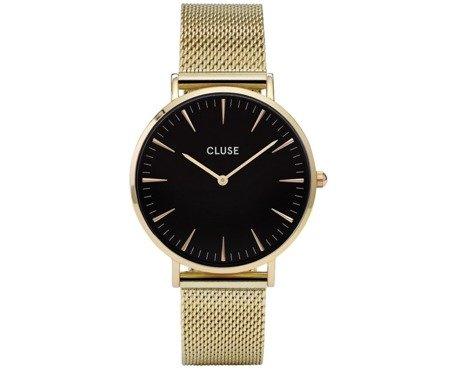Zegarek damski Cluse La Boheme Mesh Gold/Black CL18110