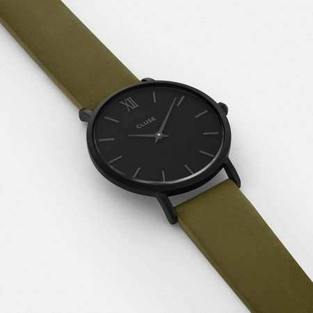 Cluse Minuit Full Black/Olive Green CL30007