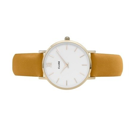 Cluse Minuit Gold White/Mustard CL30034