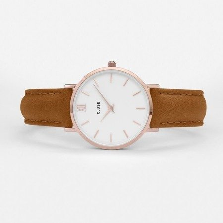 Cluse Minuit Rose Gold White/Caramel CL30021