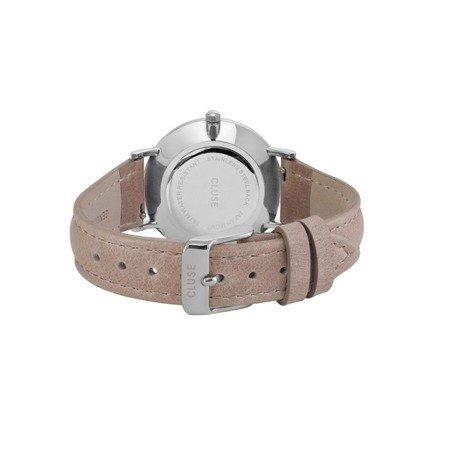 Cluse Minuit Silver White/Hazelnut CL30044