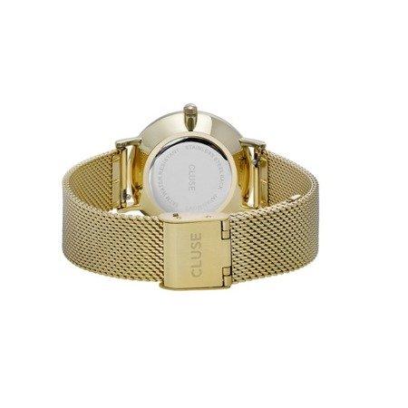 Zegarek damski Cluse Minuit Mesh Gold Black CL30012